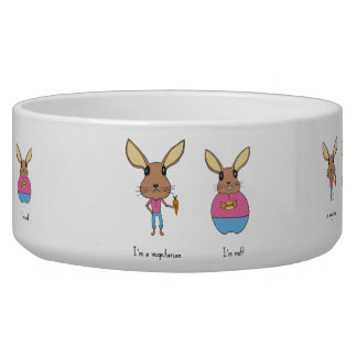 Cute bunnies. bowl