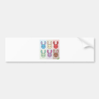 Cute Bunnies Bumper Sticker