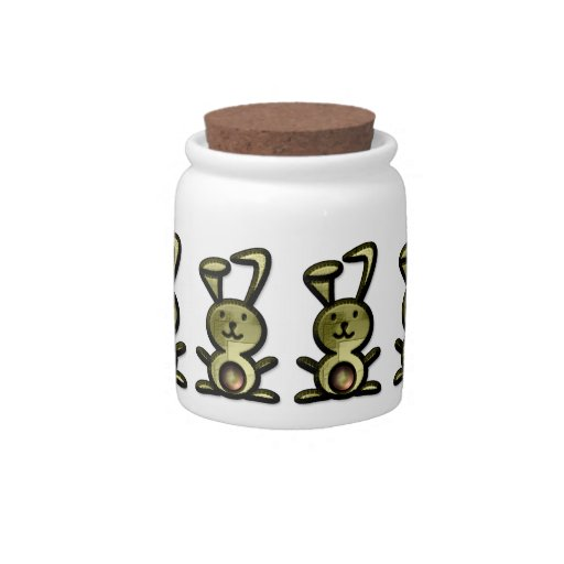 Cute Bunnies Candy Jar