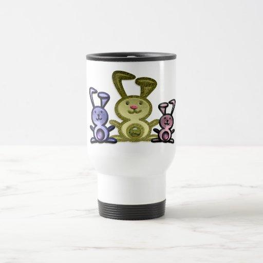 Cute Bunnies Digital art Travel Mug