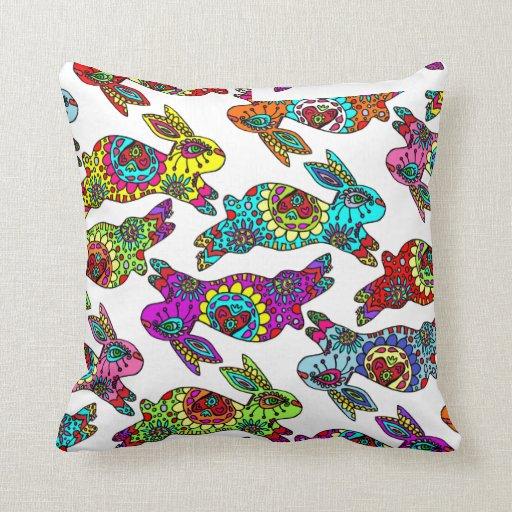 Cute Bunnies Kaleidoscope Series Pillow