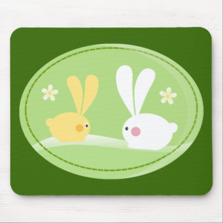 Cute Bunnies Mouse Pad