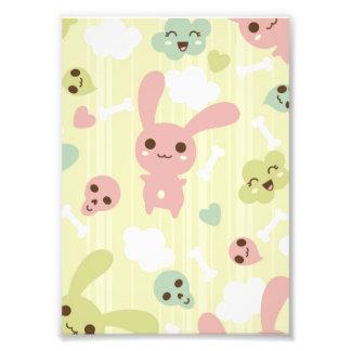 Cute Bunnies Pattern Photo Print