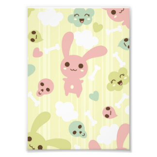 Cute Bunnies Pattern Art Photo