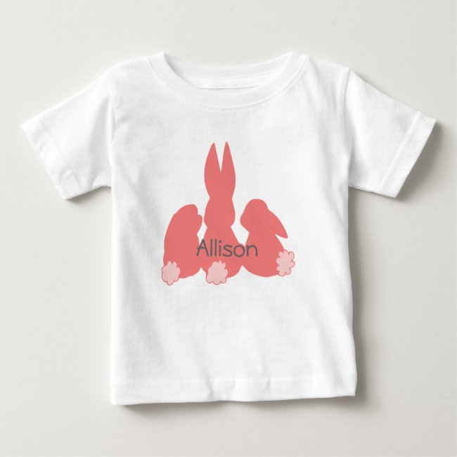 Cute Bunnies | Personalized Baby T-Shirt