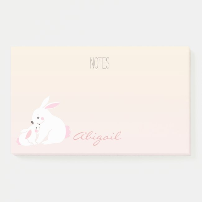 Cute bunnies | Personalized Post-it Notes