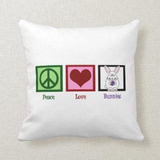 Cute Bunnies Throw Pillows