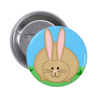 Cute Bunny 2 Inch Round Button