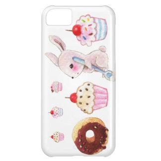Cute bunny and kawaii cupcakes iPhone 5C case
