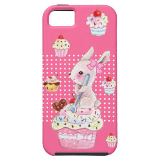 Cute bunny and kawaii cupcakes iPhone SE/5/5s case