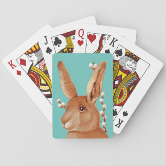 Cute Bunny and Pussy Willow Poker Deck