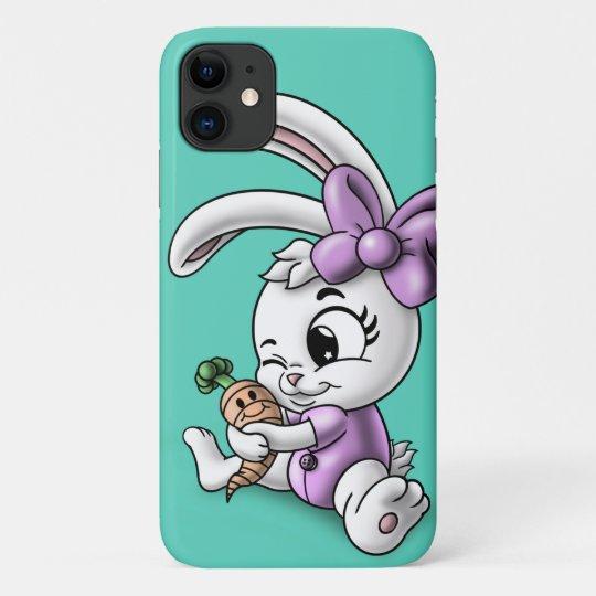 Rabbit in Flowers iPhone 11 case