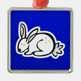 Cute Bunny; Blue Ornament