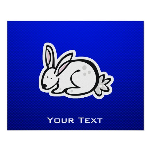 Cute Bunny; Blue Print