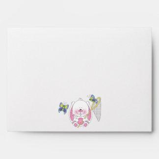 Cute Bunny Cartoon Envelope