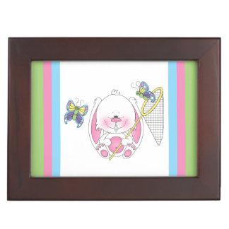 Cute Bunny Cartoon Keepsake Box