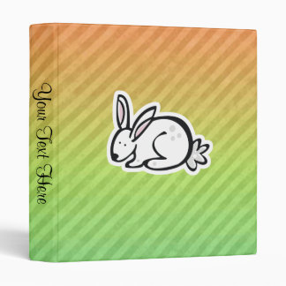 Cute Bunny; Colorful 3 Ring Binder