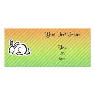 Cute Bunny; Colorful Custom Rack Cards