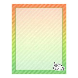 Cute Bunny; Colorful Letterhead Template