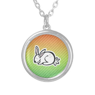 Cute Bunny; Colorful Personalized Necklace