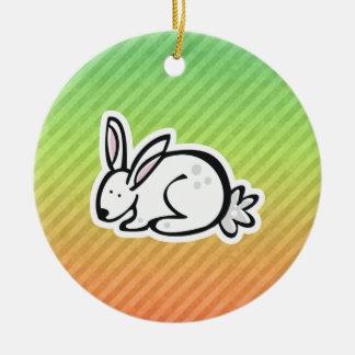 Cute Bunny; Colorful Christmas Tree Ornament
