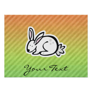 Cute Bunny; Colorful Posters