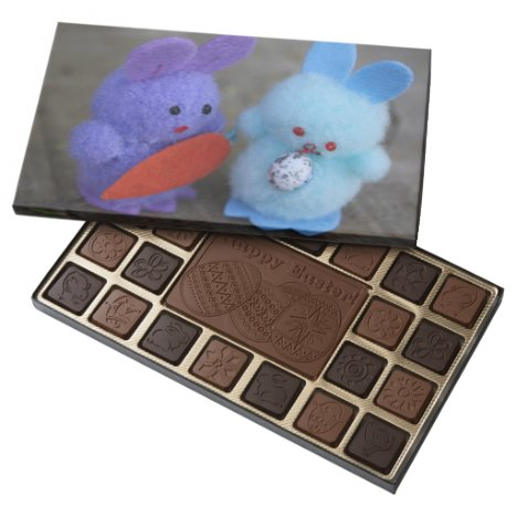 Cute Bunny Couple Easter Gift Chocolate Boxed