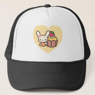 Cute bunny cupcake strawberry pink kawaii trucker hat
