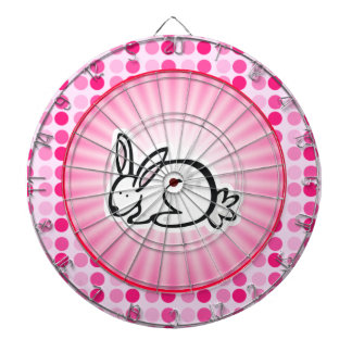 Cute Bunny Dartboard With Darts
