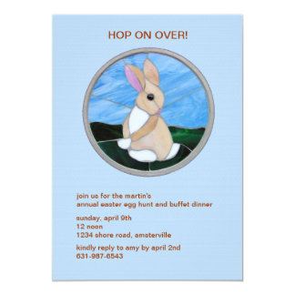 Cute Bunny Easter Holiday Invitation
