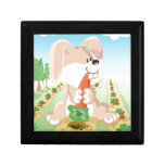 Cute bunny eating carrot trinket boxes