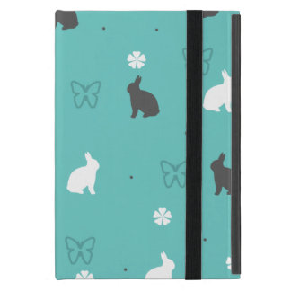 cute bunny flower and butterfly pattern case for iPad mini