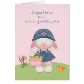 Cute Bunny, Granddaughter, Easter Card