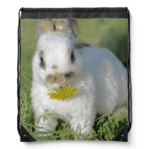 Cute Bunny great for Easter Drawstring Bag