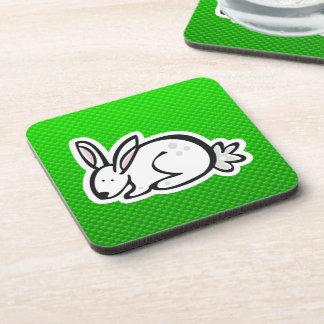 Cute Bunny; Green Drink Coaster