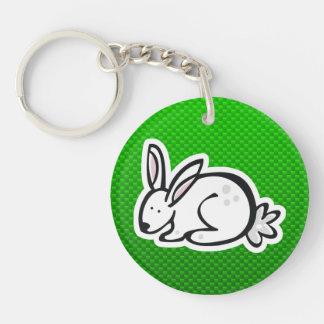 Cute Bunny Green Keychain