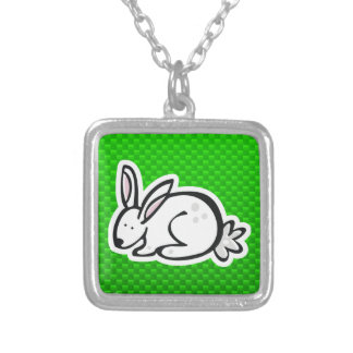 Cute Bunny; Green Necklace