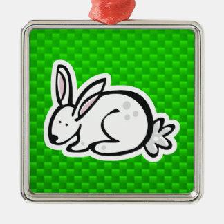 Cute Bunny; Green Ornament