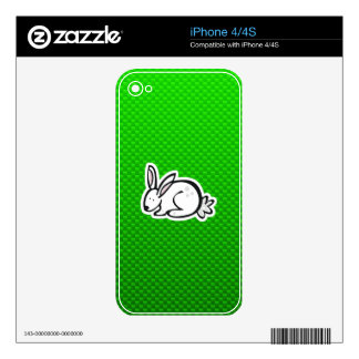Cute Bunny; Green Decal For The iPhone 4S