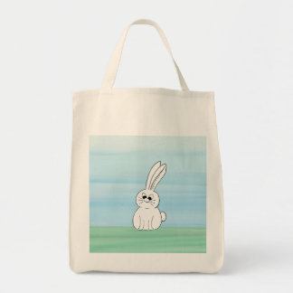 Cute Bunny Grocery Tote Grocery Tote Bag