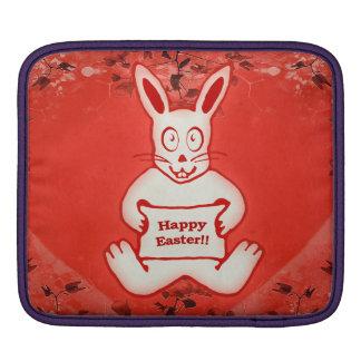 Cute Bunny Happy Easter Drawing Illustration iPad Sleeve