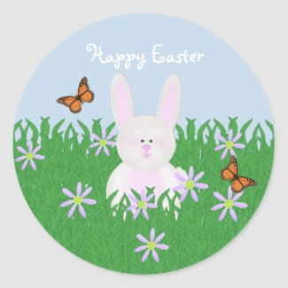 Cute Bunny Happy Easter Stickers sticker