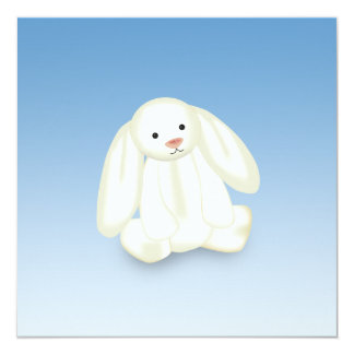 Cute Bunny Illustration Personalized Announcement