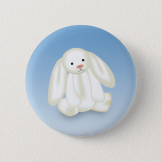 Cute Bunny Illustration Pinback Button