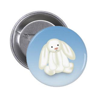 Cute Bunny Illustration Pinback Button