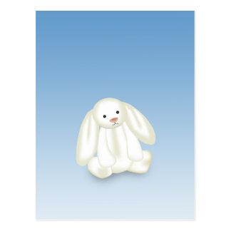 Cute Bunny Illustration - Postcard