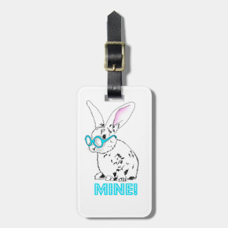 Cute bunny - It mines! Luggage Tag