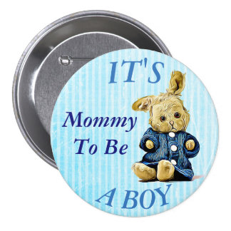 Cute Bunny It's a Bunny Mom to Be Baby Shower Pin