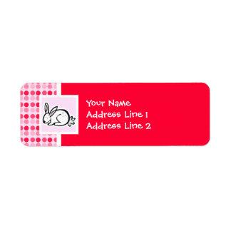 Cute Bunny Label