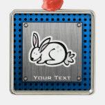 Cute Bunny; Meta-look Ornaments